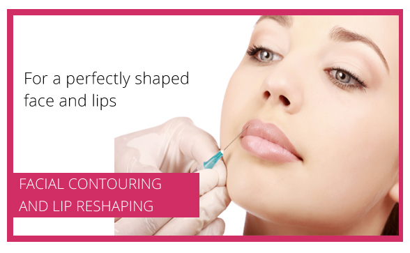 Facial contouring and lip reshaping