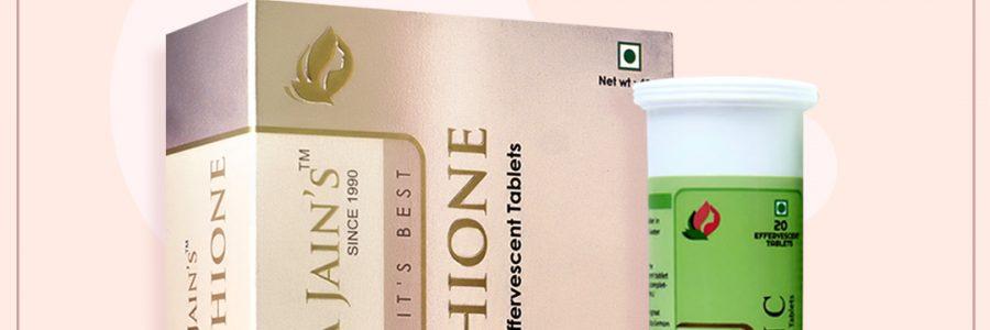 Dr Smita Jain's Glutathione 1000mg & Vitamin C Combination – 35 Effervescent Tablets